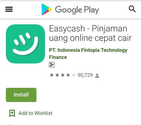 Review Aplikasi Easy Cash Tanpa Npwp Dan Slip Gaji Cair Hitungan
